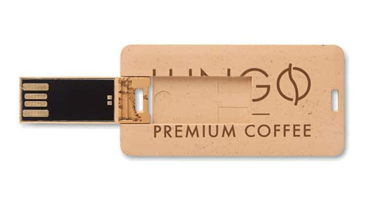 Chiavette usb personalizzata carta di credito ecogreen
