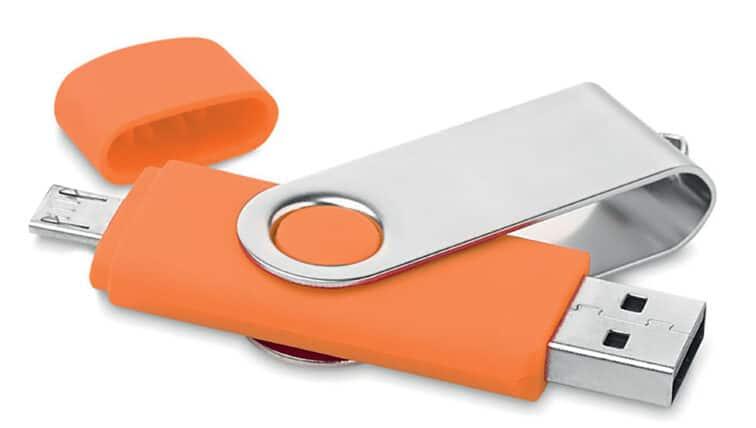 Pennetta usb personalizzata arancio