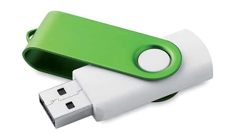 Regalo chiavetta personalizzata bicolor bianco/verde