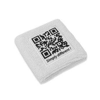 Polsino in spugna personalizzato con codice Qcode
