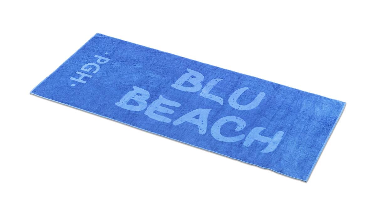 telo spiaggi personalizzato con lavorazione jacquard